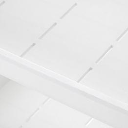 SONGMICS Carrello in Plastica a 3 Piani Scaffale Mobile in PP con Rotelle per Cucina e Bagno Carrello Multiuso Bianco KSC01WT - 1