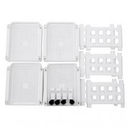 SONGMICS Carrello in Plastica a 4 Piani Scaffale Mobile in PP con Rotelle Salvaspazio per Cucina e Bagno Carrello Multiuso Bianco KSC02WT - 1