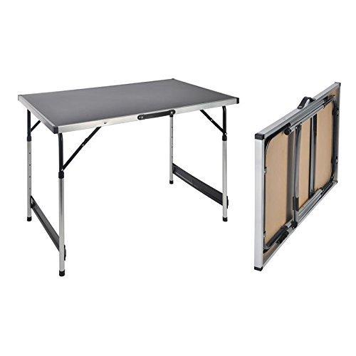 Spetebo Haushalt International Table - Tavolino pieghevole e regolabile da campeggio, 100 x 60 x 73-94 cm - 1