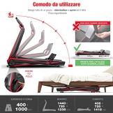 Sportstech Tapis Roulant F17 Console futuristica Easy-Folding System - Nessun Montaggio Necessario - 2.5CV 12 KM/H, Sistema lubrificazione cardiofrequenzimetro da 39,90 € Incluso App Smartphone MP3 - 1