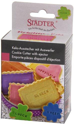 Städter 966803 Brigitte Set stampi per tagliare la pasta dei biscotti con timbro lettere - 1