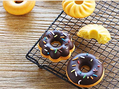 Stampi per dolci ciambella a 24 pezzi Set di KeepingcooX - Stampo per dolci al silicone fluted, Tazze per dolci Bundt - Zucca, stella, fiore, cuore, forme di savarin Stampi per mini torte - 1