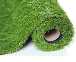 SUMC Erba Sintetica Erba tappeto Sintetico Indoor Prato Erba Artificiale finta Sguardo realistico Prato verde per animali domestici all'aperto Cani Mucchio Altezza di 30mm (1M × 2M) - 1
