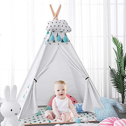 Sunflowerany Tenda per Bambini Indiani Tenda Portatile per Bambini Tenda da Gioco per Bambini Cupola addormentata Teepee Pieghevole Tenda da Gioco Playhouse Tenda Classica da Gioco Stile Indiano - 1