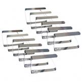 SuperHandwerk 12 pz Tovaglia Clip Fermatovaglia per Tavoli da Giardino Regolabile Tablecloth Clip per Feste Esterne o in Casa Picnic ecc in Acciaio Inox - 1