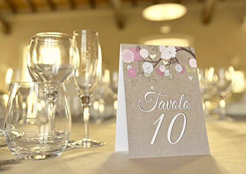 Tableau de mariage matrimonio - vintage nozze vari modelli disponibili set cartolina + cavalletto tavolo - 1