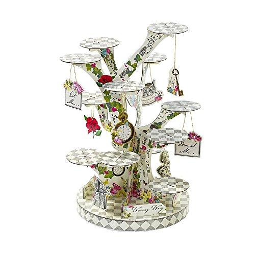 Talking Tables Alzata per Dolci Alice nel Paese De, Multicolour, 59x27x2.5 cm - 1
