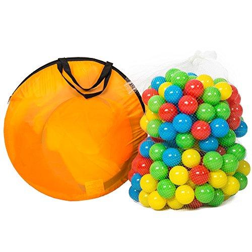 TecTake Tenda giochi per bambini | Pop Up tenda da gioco con palline per bambino | incl. 200 palline + tascabile | -modelli differenti- (Tipo 1 | no. 401028) - 1