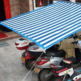 Telone blu a righe bianche Basha con teli, telo leggero trasparente, copertura per telo da tetto, copertura per telone (dimensioni : 3MX8M/10FTX26FT) - 1