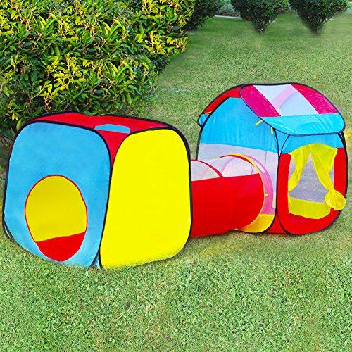Tenda per Bambini Tunnel Gioco Bimbi Casetta Giardino Tenda Pop Up da Spiaggia Campeggio Esterno Giocattolo Gioco Set Regalo Ragazza per 3 4 5 Anni - 1