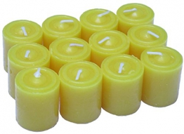 Thermovip. Candela naturale Anti Zanzara Citronella. 5 X 3.4 cm. 9 ore. Pacchetto economico di 12 unità - 1