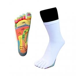 Toetoe–Salute–riflessologia Toe Calze (UK 9–13| EU 44–48, Bianco) - 1