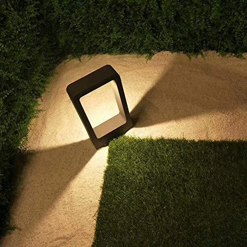 Topmo-plus LED Palo da Esterno/Paletto da giardino/Lampade da giardino / 7W Puri COB Luci/Lampada da sentieri in alluminio LED IP65 Impermeabile aiuole/sentieri 770LM 30 mm Grigio (bianco caldo) - 1