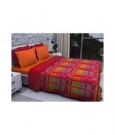 Trapunta invernale stampata con imbottitura in puro cotone - kandisky 8015-2.. Misura Matrimoniale, Colore Rosso, Tessuto Poliestere