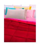 Trapunta invernale tinta unita double face - chromo. Misura Matrimoniale, Colore Rosso
