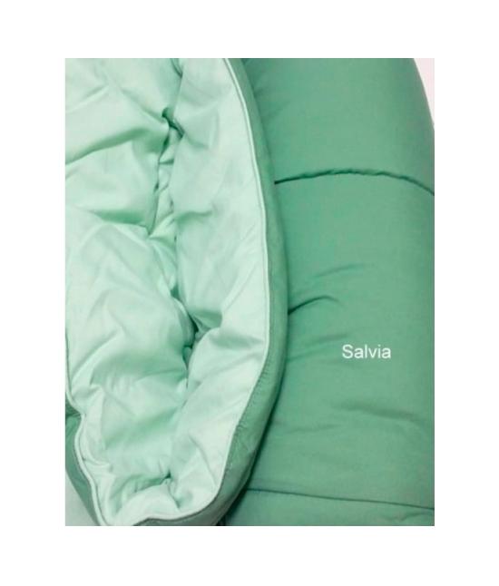 Trapunta invernale tinta unita double face con imbottitura in microfibra anallergica - bavaria. Misura Matrimoniale, Colore Verde