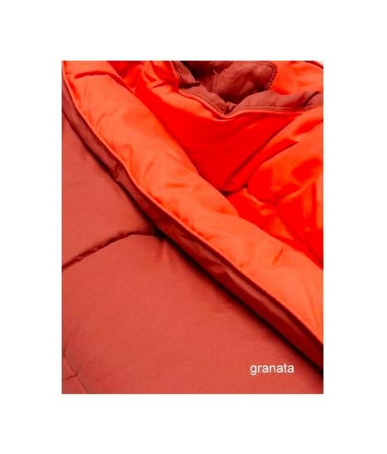 Trapunta invernale tinta unita double face con imbottitura in microfibra anallergica - bavaria. Misura Singolo, Colore Rosso
