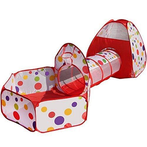 Truedays Pop Up di Tenda e Tunnel da Gioco Bambini Tenda Giocattolo Tunnel Bambino Ball Pool per Bambini e Bambine Incl. borsa per il trasporto 3 in 1 - 1