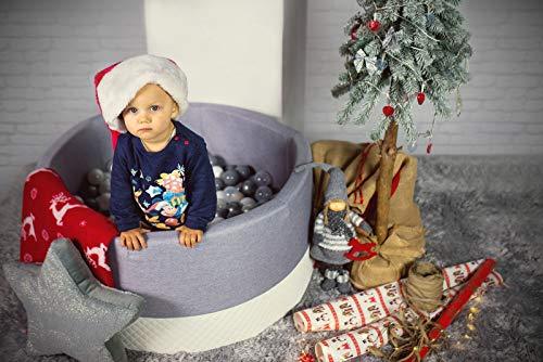 Tweepsy Morbida Piscina di Palline per Bambini 250 Palle 90x90x40cm - Fabbricato in EU - BKWE2 - 1