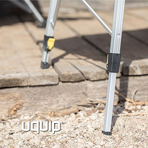 Uquip, Variety L – Tavolo pieghevole in alluminio per un massimo di 6 persone (120x70 cm) - 1