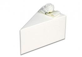 Vetrineinrete® Scatoline portaconfetti a Forma di Torta Bianca 3 Confezioni con Fiori 30 Pezzi per Matrimonio Elegante in cartoncino con Nastro bomboniera 304118 - 1