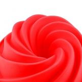 Vicloon Stampi per Torte,Stampo a Ciambella per Muffin,Bigné,Pudding e Cubi di Ghiaccio,Muffa da Forno 25 cm,Rosso - 1
