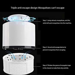VMINE Lampada Anti Zanzara elettrica Insetti Volanti Killer, 360 ° LED Trappola per Zanzare da Interno, Nessun Chimico, Portata 60 m², Impermeabile, silenzioso, adatto per uso interno ed esterno - 1