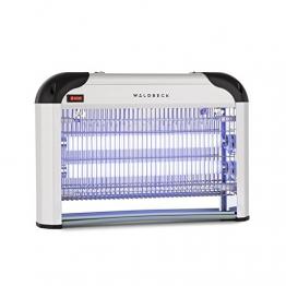 Waldbeck Mosquito Ex 4000 • Zanzariera Elettrica • Lampada Anti zanzare • per Esterni ed Interni • Trappola a Luce UV • Copertura 100 m² • Possibilitá di appenderla • Argento - 1