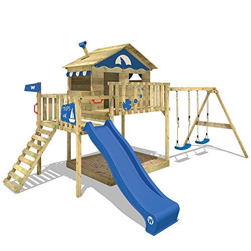 Wickey Parco giochi Smart Coast con altalena doppia in legno Scivolo - 1