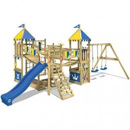 WICKEY parco giochi Smart Queen di legno per bambini con altalena e scivolo - 1
