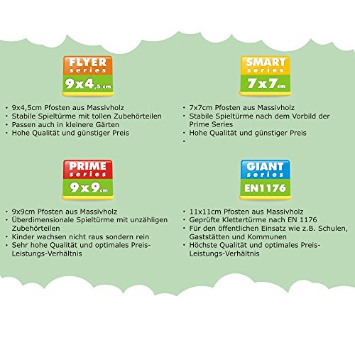 WICKEY Parco giochi TwinFlyer Torre da gioco con altalena, scivolo, sabbiera + set completo di accessori, telone blu + scivolo blu - 1