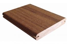 Woodstore Handelsgesellschaft WPCKR2513726 Thermo WPC - Mattonelle in legno massiccio con elementi laterali Rothko and Frost - Segnato, 25 x 137 mm, lunghezza 5 m, colore: Marrone scuro - 1