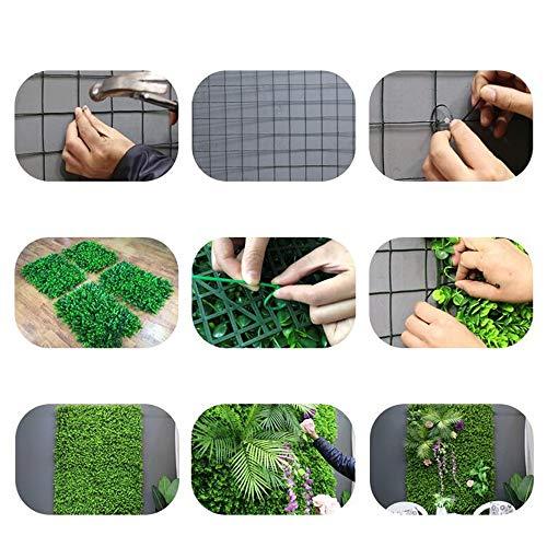 """Xiaolin Recinzione Artificiale Privacy Screen Evergreen Hedge Panels Fake Plant Wall 20""""X20 Decorazione del Giardino di casa (Colore : 01) - 1"""