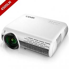 YABER Proiettore 4500 Lumen Videoproiettore Nativa 1080P 4D Keystone Correction ± 50° Led Full Hd Supporto 4K Videoproiettore Domestico/Professionale Per Iphone, Smartphone, Pc, Tvbox, Laptop, Ps4 - 1