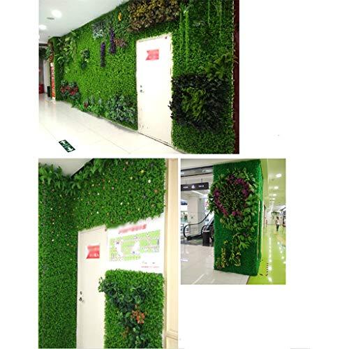 YNFNGXU Muro di Recinzione Artificiale Pianta, Recinzione in bosso Foglia Verde False Leaf Curtain Family Garden Outdoor e Decorazione Interna (Colore : E) - 1
