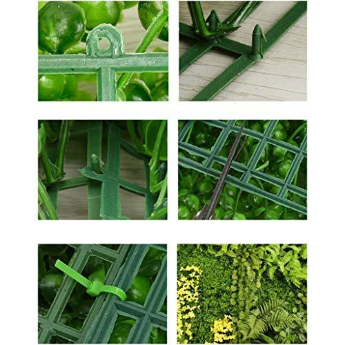 YNFNGXU Recinzione Artificiale della Pianta, Giardino Domestico Esterno E Decorazione Naturale Dell'interno dello Schermo 40x60cm (Colore : A) - 1
