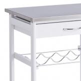 Zeller 13772 Carrello da Cucina con Top in Acciaio Inox 47 x 37 x 82 cm, Colore: Bianco - 1