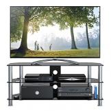 """1home Mobile Porta TV di Vetro Nero per LCD LED e Plasma TV da 32"""" a 70"""" GT5 - 1"""