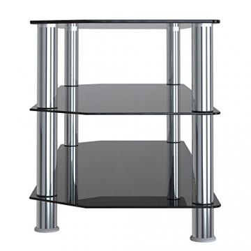 Porta Tv Lcd Vetro.Scegli Su Lealu It 1home Mobile Porta Tv Di Vetro Nero Per Lcd Led