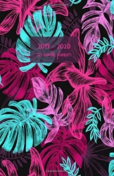 2019 - 2020 18 month planner: July 19 - Dec 20. Monday start week. Monthly and weekly planner with TO-DOS. Includes Important dates, 2021 Future ... (Tropical plant monstera leaves cover). - 1