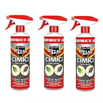 3 PEZZI Zig Zag,Cimici, Insetticida Microincapsulato a lento rilascio indicato per le Cimici, azione rapida e residuale, formato 500 ml X 3 CONFEZIONI - 1