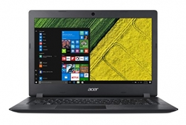 "Acer Aspire 1 A114-31-C02W Notebook con Processore Intel Celeron N3350, RAM da 4 GB DDR3, eMMC 32GB, Display 14"" HD LED LCD, Scheda grafica Intel HD 500, Office 365, Windows 10 Home in S mode, Nero - 1"