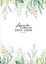 Agenda settimanale 2019 2020 A5: Agenda giornaliera da metà anno 2019-2020 Motivo fiori, Agenda 18 mesi luglio 2019 - dicembre 2020, italiano - 1