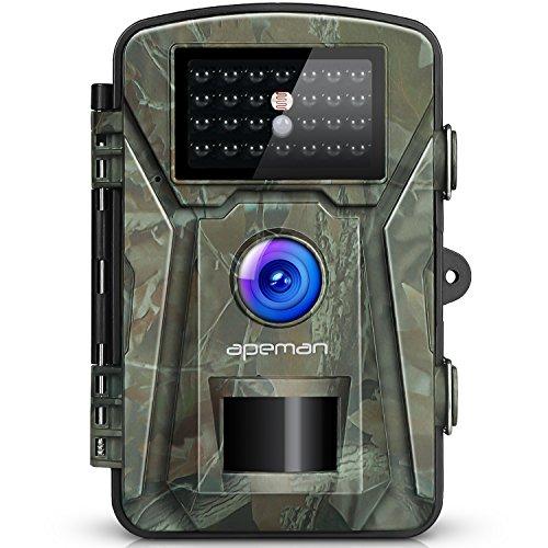 APEMAN Fotocamera Caccia Fototrappola 26PCs 940nm IR LEDs Macchine Fotografiche da Caccia Visione notturna 65ft/20m Impermeabile IP66 - 1