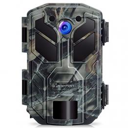 APEMAN Fotocamera da Caccia 20MP 1080P Fototrappola 40PCs IR LEDs Movimento Attivato 0.2s a Scatto Modalita' Notturna 65ft Impermeabile IP66 Camera per la Caccia - 1