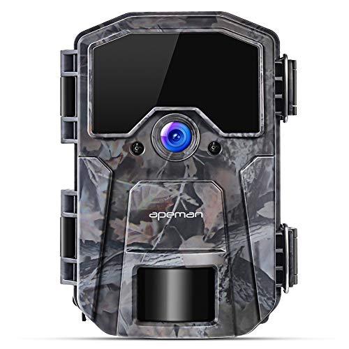 APEMAN Fototrappola 16MP 1080P, Videocamera con rilevazione Notturna Senza Bagliore con IR LEDs 940nm, Intervalli di Tempo, Timer, Design Impermeabile IP66 - 1