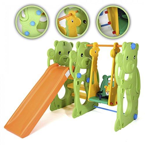 BABY VIVO - Altalena per bambini con struttura per interni ed esterni, Giungla - 1