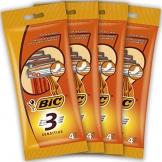 BIC 3 Sensitive Rasoi Usa e Getta da Uomo, Confezione da 4 Pacchi a 4 Pezzi - 1