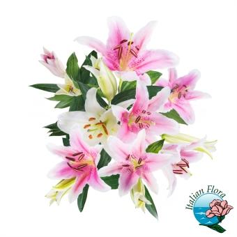 Bouquet di Gigli rosa - Consegna in Italia.