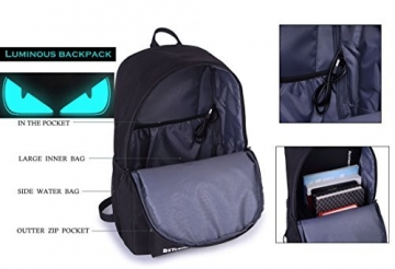 BSTcentelha Anime Borsa a tracolla luminosa leggera con scomparti per laptop per studenti Ragazzi Boy Girl Book Laptop Travel Camping (Grande) - 3